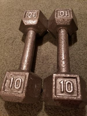 10 lbs dumbbells x 2 for Sale in Orem, UT