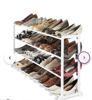 20 pair shoe rack $15 each or two for $25 for Sale in Davie, FL