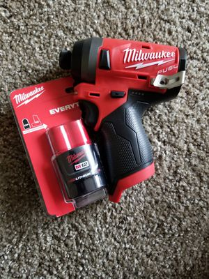 """Milwaukee M12 Fuel Brushless Variable Speed 1/4"""" Hex """"Stubby"""" Impact Driver W/ M12 Battery NEW for Sale in Saint Paul, MN"""