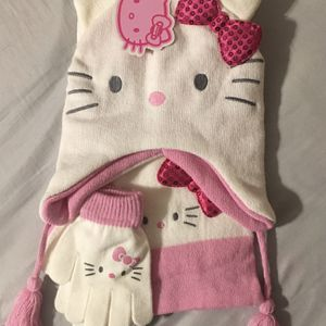 Hello Kitty Girls 3 Piece Cold Weather Set - White/Pink New with Tags for Sale in Peoria, AZ