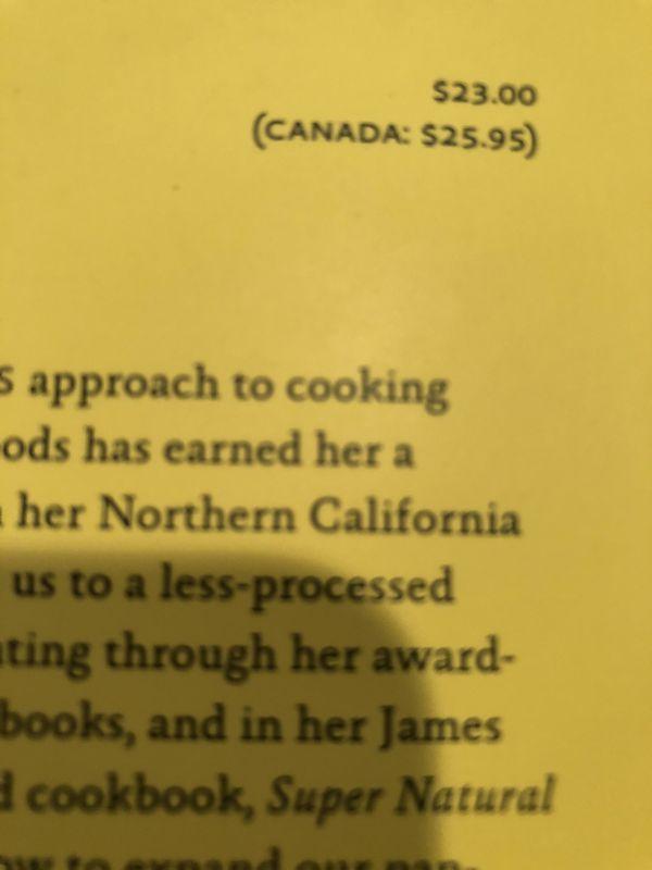 NEW - never used. Super Natural Cookbook