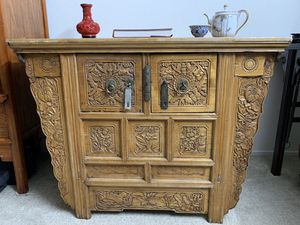 Antique Chinese Qing Dynasty Two-drawer table for Sale in Union City, CA