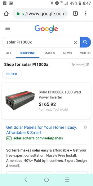 Solar PI1000x 1000 watt power inverter for Sale in Lynnwood, WA