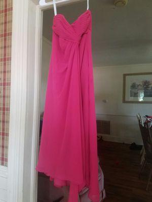 Davids bridal watermelon bridesmaid dress for Sale in Charlotte Court House, VA