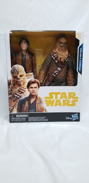 Star Wars 2 Action Figures Pack Han Solo and Chewbacca for Sale in Milpitas, CA