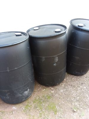 55 GALLON plastic drums for Sale in Glendale, AZ