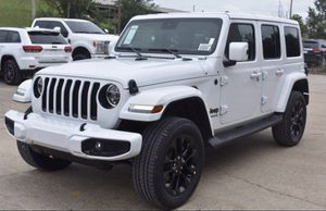 New set of 5 OEM Jeep Wrangler 20 inch gloss black wheels with Bridgestone tires. for Sale in Byrnes Mill, MO