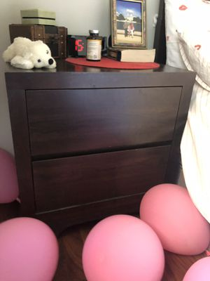 Bedside table, whole wood, dark brown, 24w×17L×25h for Sale in Arlington, VA