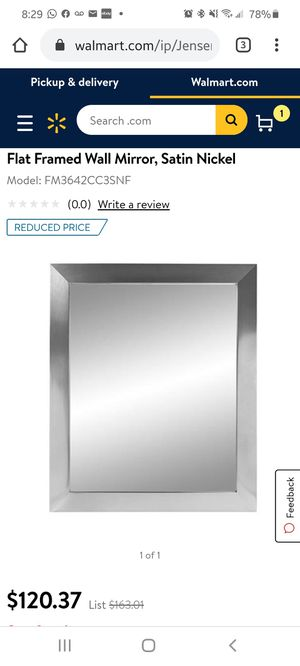Jensen framed wall mirror for Sale in Lewis Center, OH