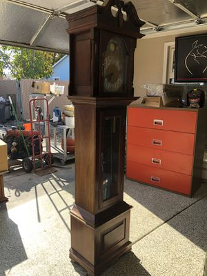 Triple chiming traditional grandfather clock for Sale in Stockton, CA