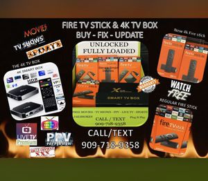 Movies , sports live tv , PPV the best entertainment firestix for Sale in Riverside, CA