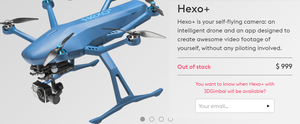*NEW* Hexo+ Hexo Plus Self Flying Video Drone Action Camera Retails for $999 for Sale in San Jose, CA