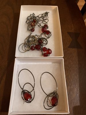 Costume jewelry set/ necklace and earrings for Sale in Starks, LA