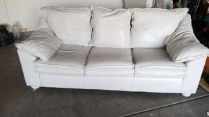White leather couch for Sale in Tolleson, AZ