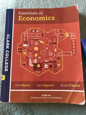 Clark College - Essentials of Economics 101 Textbook for Sale in Washougal, WA
