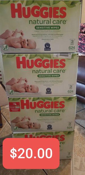 Huggies Natural Care Sensitive Wipes 624, Toallitas Humedas Huggies 624 for Sale in South Gate, CA