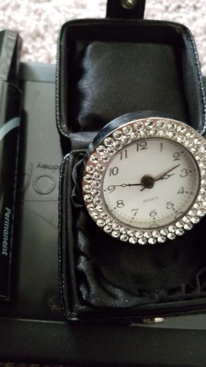 Neiman Marcus travel, desk, handheld clock, with alarm for Sale in Dallas, TX