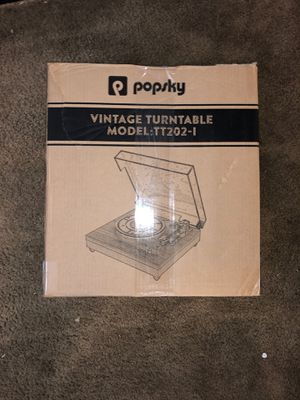 Popsky Vintage Turntable (Open Box - Brand New!) for Sale in Rancho Cucamonga, CA
