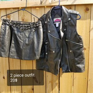 leather outfit 2 piece for Sale in Columbus, OH