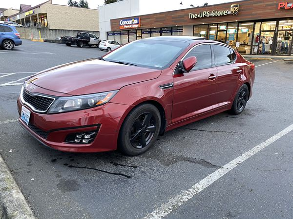 2014 Kia Optima LX loaded leather roof sounds trades payments