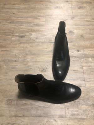 ALDO BLACK LEATHER CHELSEA BOOT SIZE 12 for Sale in Arlington, TX