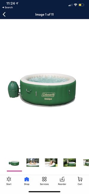"""Coleman 77"""" x 28"""" SaluSpa Inflatable Hot Tub, 4-6 Person for Sale in Mansfield, TX"""