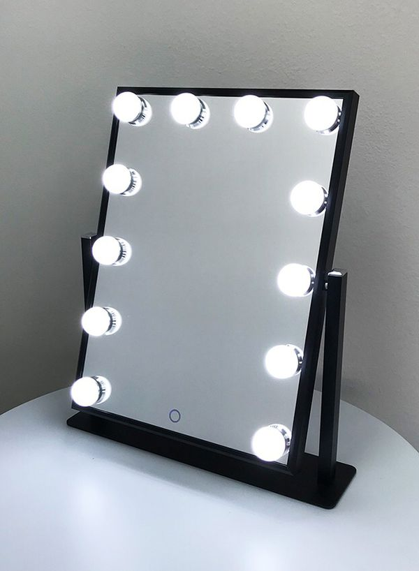 "(NEW) $70 each Vanity Mirror 12 Dimmable Light Bulbs Hollywood Beauty Makeup, 16""x12"""
