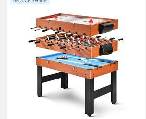 48'' 3-In-1 Multi Combo Game Table Foosball Soccer Billiards Pool Hockey for Sale in Alta Loma, CA