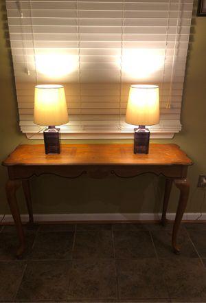 (2) Purple Glass Table Lamps for Sale in Virginia Beach, VA