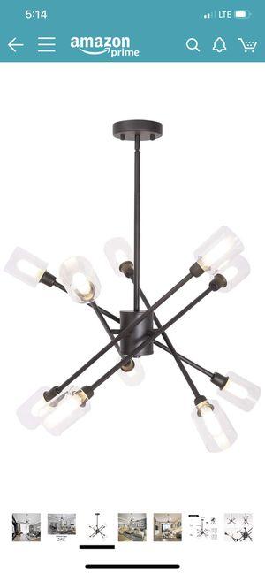 Brand new MELUCEE 10 Lights Sputnik Chandelier Lighting, Modern Ceiling Light Fixture Flush Mount Pendant Light Oil Rubbed Bronze Finish with Clear G for Sale in Fullerton, CA