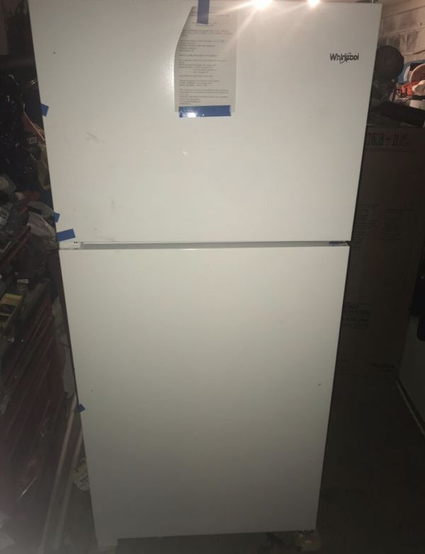 Refrigerator (whirlpool new) stainless steal and white