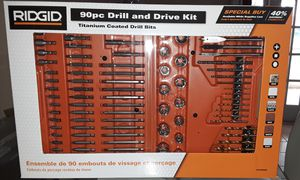 Ridgid 90 pc drill and drive kit for Sale in Miami, FL