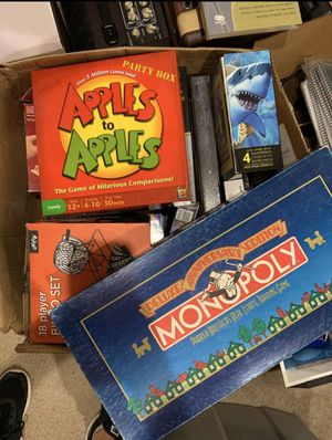Large box of games and puzzles for Sale in Snohomish, WA