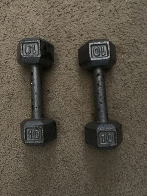 10# Hex weights (2 of them). $45 for Sale in Stockton, CA