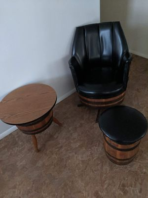 Chair, Foot Stool, End Table, & Coffee Table for Sale in Danville, PA