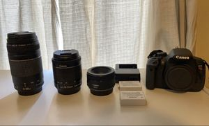 Canon Rebel T5i with accessories for Sale in Springfield, MA