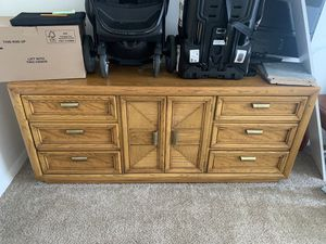 Solid wood dresser for free , I just don't need it anymore for Sale in Annandale, VA