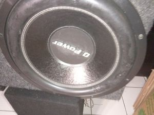 """1 15"""" Q power with amp Jensen power for Sale in Las Vegas, NV"""