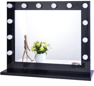 Chende Hollywood Vanity Mirror with Light, Lighted Makeup Dressing Table Vanity Set Mirrors with Dimmer, Tabletop or Wall Mounted Vanity, 14 LED Bulb for Sale in Walnut, CA