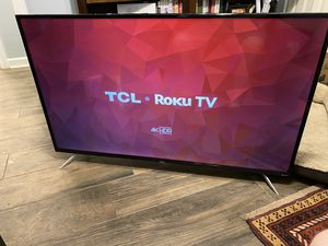 "TCL - 55"" Class - LED - 4 Series - 2160p - Smart - 4K UHD TV with HDR Roku TV for Sale in Darien, IL"