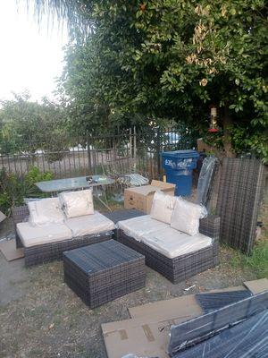 4-piece wicker sectional sofa set for Sale in El Monte, CA