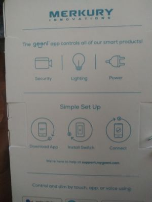 Merkury smart wifi dimmer switch touch to dim for Sale in Santa Maria, CA