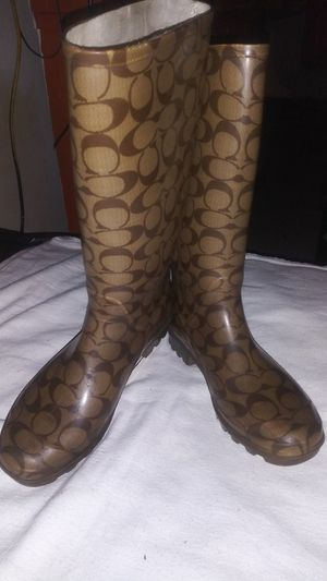 Coach Rain Boots / size 8 for Sale in Bakersfield, CA