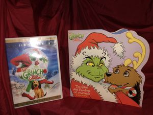 Collector's Edition The Grinch who stole Christmas Jim Carrey DVD and The Care and Feeding of a Grinch -as told by Max the dog (grinch's pet) very sp for Sale in Phoenix, AZ