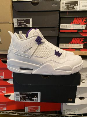 Nike Air Jordan 4 Retro Metallic Purple for Sale in Reserve Township, PA