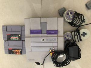 Super Nintendo 3 games & 2 controls for Sale in Miami, FL