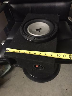 JL audio subwoofer with shallow slim box for Sale in Anaheim, CA