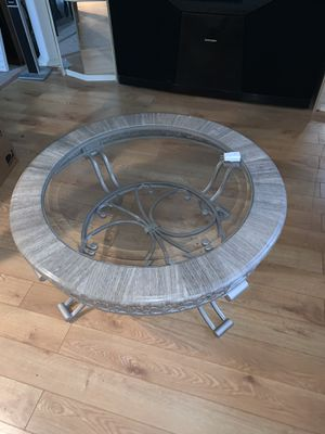 Marble and glass coffee table and end table set for Sale in Waterford, NJ