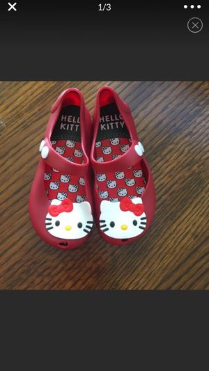 New red hello kitty jelly shoes for Sale in Memphis, TN