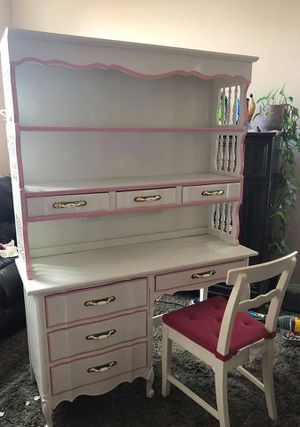 Solid wood dresser and desk. Excellent shape for Sale in Centennial, CO